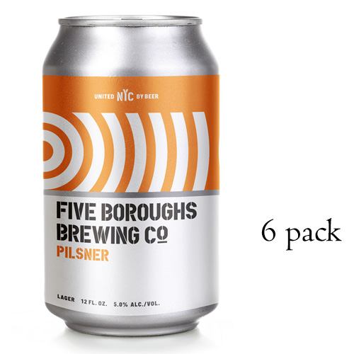 FIVE BOROUGHS PILSNER 12oz 6pk