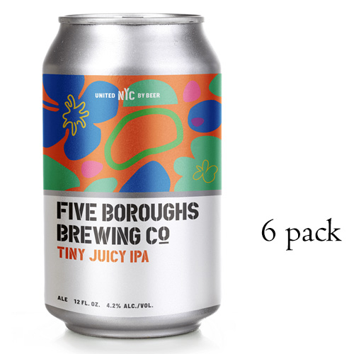 FIVE BOROUGHS TINY JUICY IPA 12oz 6pk