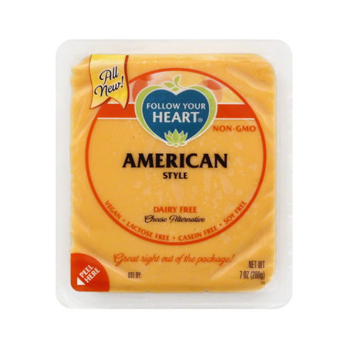 FOLLOW YOUR HEART VEGAN CHEESE SLICES AMERICAN 7oz.