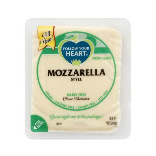 FOLLOW YOUR HEART VEGAN CHEESE SLICES MOZZARELLA 7oz.