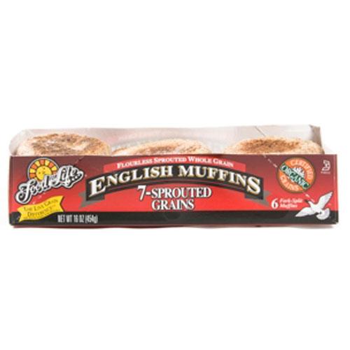 FOOD FOR LIFE ENGLISH MUFFIN 7 GRAIN 16oz