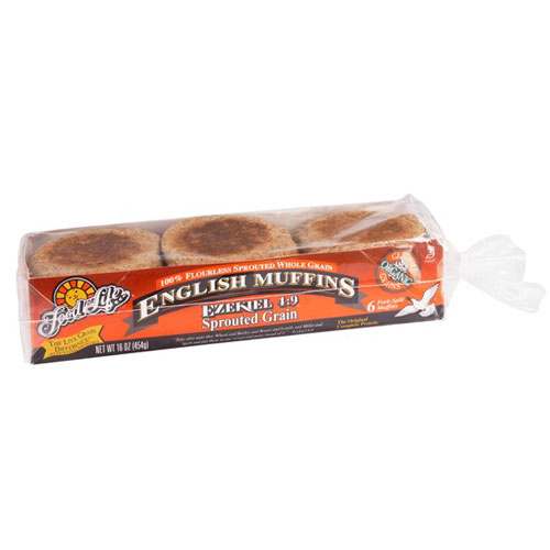 FOOD FOR LIFE ENGLISH MUFFIN EZEKIEL SPROUTED GRAIN 16oz