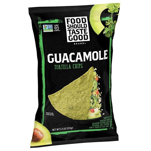 FOOD SHOULD TASTE TORTILLA CHIPS GUACAMOLE 5.5oz.