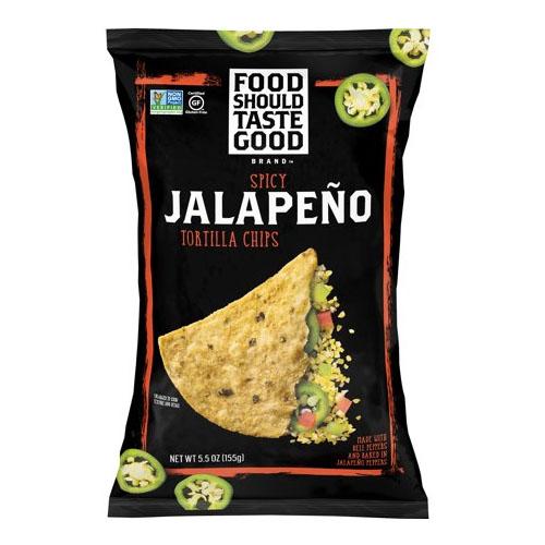 FOOD SHOULD TASTE TORTILLA CHIPS  JALAPENO 5.5oz.