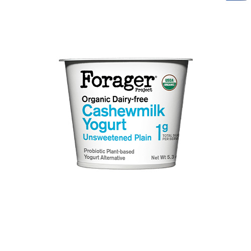 FORAGER ORGANIC DAIRY FREE CASHEWMILK YOGURT PLAIN 5.3oz