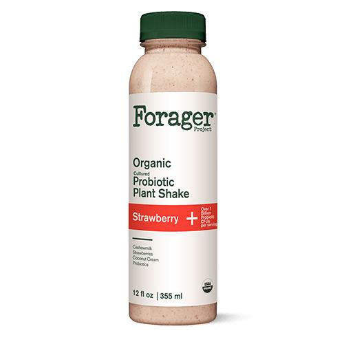 FORAGER ORGANIC PROBIOTIC PLANT SHAKE STRAWBERRY 12oz