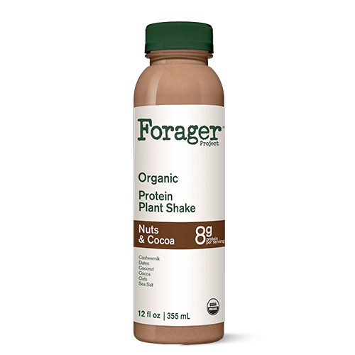 FORAGER ORGANIC PROTEIN PLANT SHAKE NUTS & COCOA 12oz
