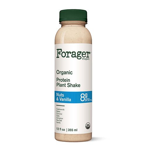 FORAGER ORGANIC PROTEIN PLANT SHAKE NUTS & VANILLA 12oz