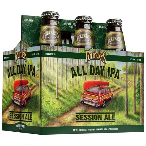 FOUNDERS ALL DAY IPA BEER 12oz 6pk.