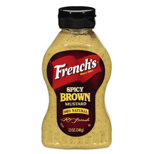 FRENCHS  SPICY BROWN MUSTARD 12oz