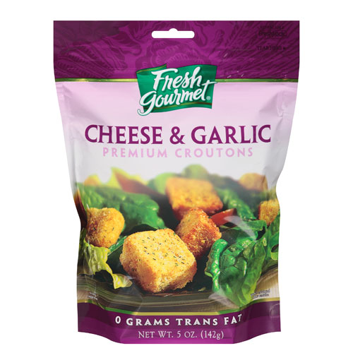 FRESH GOURMET CROUTONS CHEESE & GARLIC 5oz