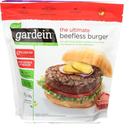 GARDEIN THE ULTIMATE BEEFLESS BURGER 12oz