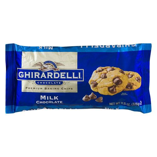 GHIRARDELLI BAKING CHIPS MILK CHOCOLATE 11.5oz