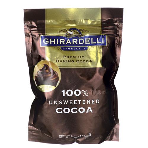 GHIRARDELLI  BAKING COCOA UNSWEET 8oz