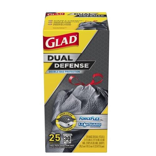 GLAD FORCEFLEX 30 GAL LARGE TRASH BAGS 25ct