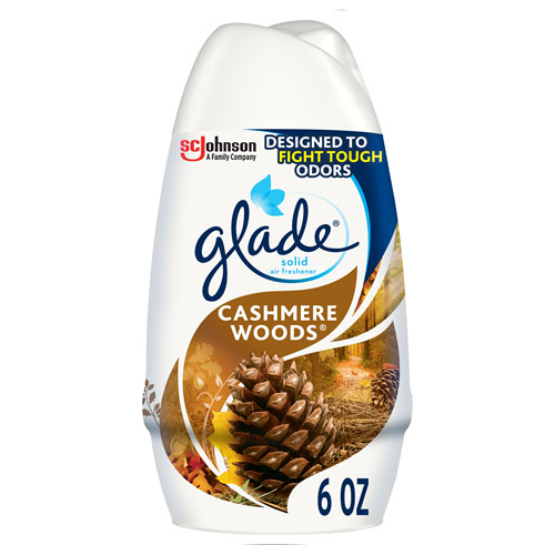 GLADE SOLID AIR FRESHER CASHMERE WOODS 6oz