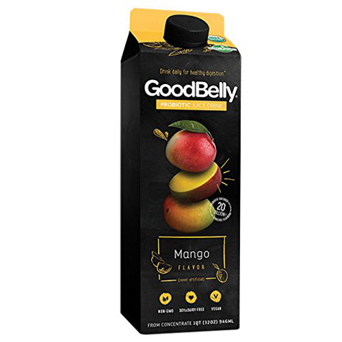 GOODBELLY PROBIOTIC DRINK MANGO 32oz