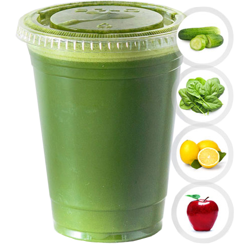 GREEN MONSTER (CUCUMBER, SPINACH, LEMON, APPLE) SELECT 16oz OR 20oz