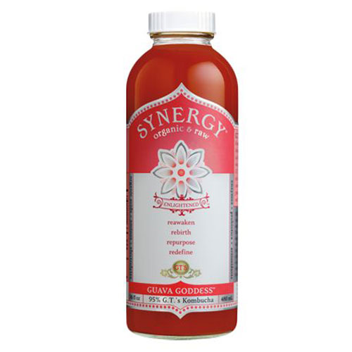 GT'S ENLIGHTENED ORGANIC KOMBUCHA GUAVA GOODNESS 16oz