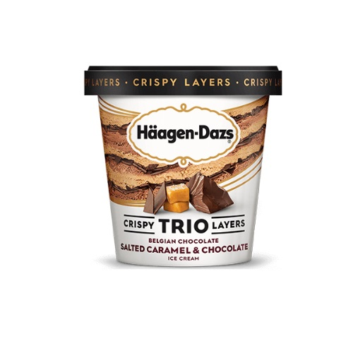 HAAGEN-DAZS CRISPY TRIO LAYERS ICE CREAM 14oz