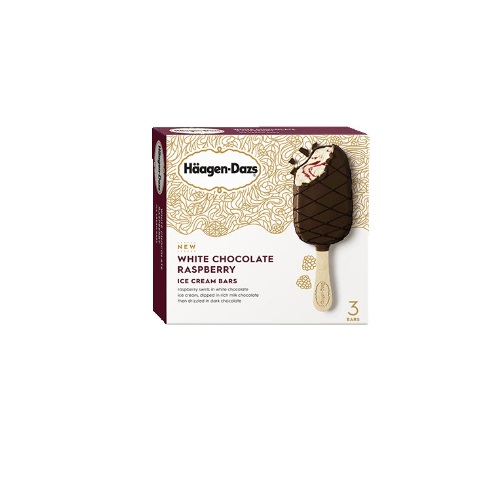 HAAGEN-DAZS  ICE CREAM BARS WHITE CHOCOLATE RASPBERRY 3oz 3pack