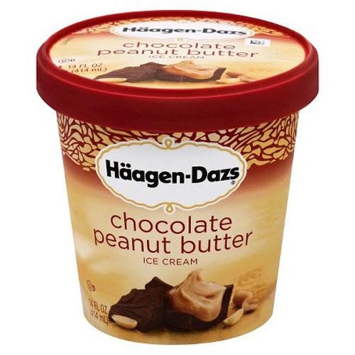 HAAGENDAZS ICE CREAM CHOCOLATE PEANUT BUTTER 14oz