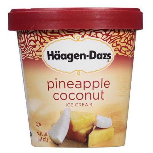 HAAGENDAZS ICE CREAM PINEAPPLE COCONT 14oz