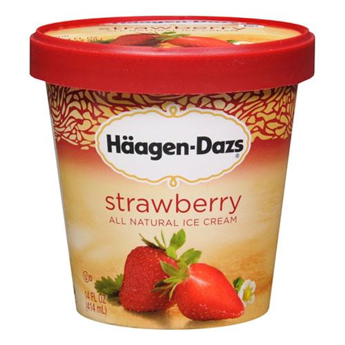 HAAGENDAZS ICE CREAM STRAWBERRY 14oz
