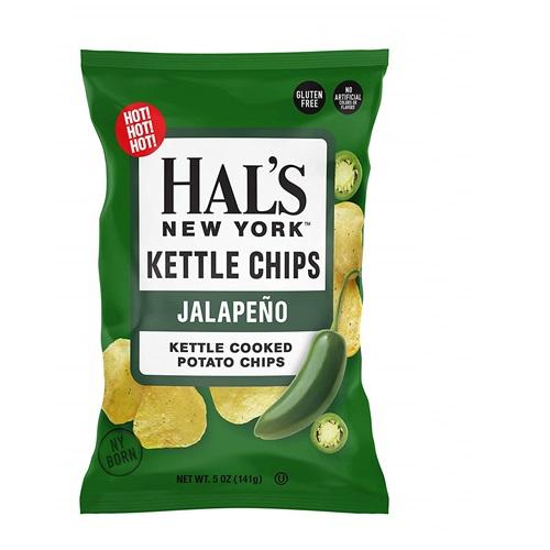 HAL'S NEW YORK KETTLE CHIPS JALAPENO 5oz.