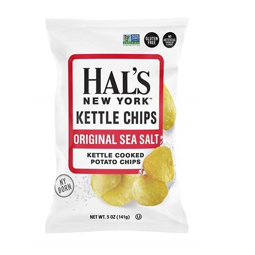 HAL'S NEW YORK KETTLE CHIPS ORIGINAL SEA SALT 4.5oz.