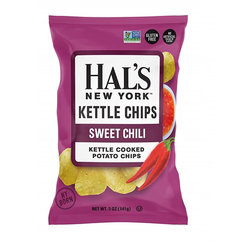 HAL'S NEW YORK KETTLE CHIPS SWEET CHILI 5oz.