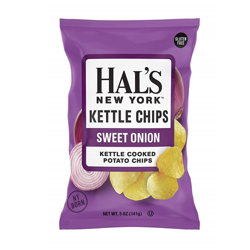 HAL'S NEW YORK KETTLE CHIPS SWEET ONION 4.5oz.