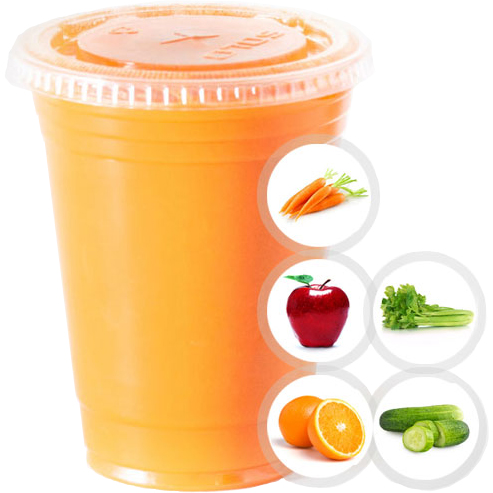 HANGOVER (CARROT, APPLE, ORANGE, CELERY, CUCUMBER) SELECT 16oz OR 20oz
