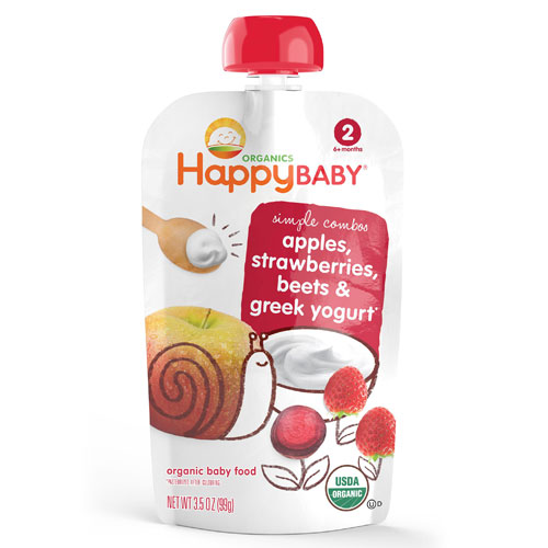 HAPPY BABY APPLES STRAWBERRIES BEETS GREEK YOGURT 3.5oz