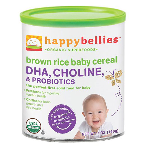 HAPPY BABY ORGANIC HAPPY BELLIES BROWN RICE BABY CEREAL 7oz