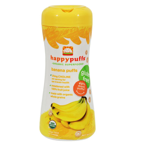 HAPPY BABY ORGANIC PUFFS BANANA 2.1oz