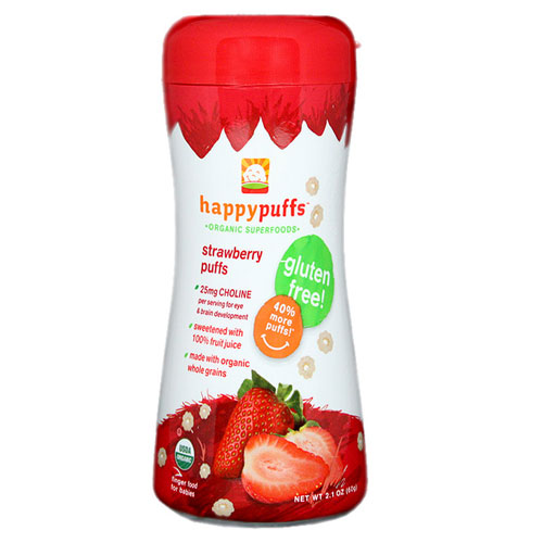 HAPPY BABY ORGANIC PUFFS STRAWBERRY 2.1oz