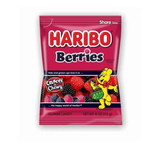HARIBO GUMMY CANDY BERRIES 5oz