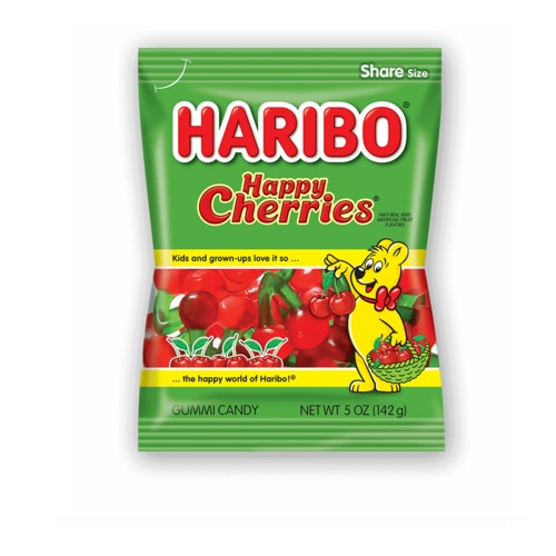HARIBO GUMMY CANDY HAPPY CHERRIES 5oz