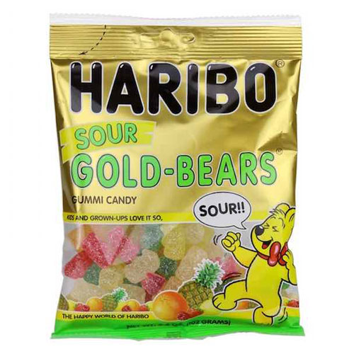 HARIBO GUMMY CANDY SOUR GOLD-BEARS 5oz