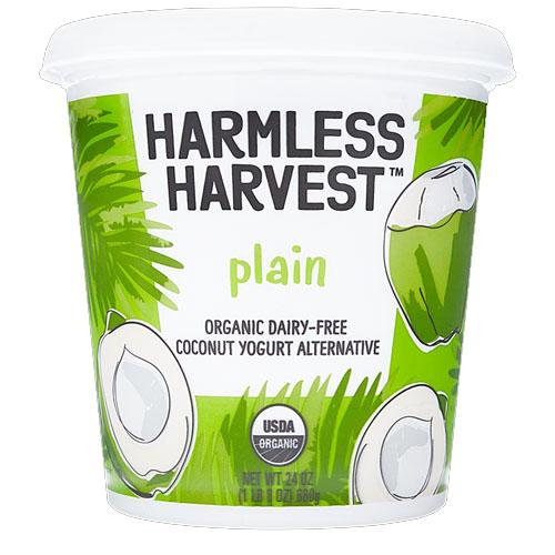 HARMLESS HARVEST ORGANIC DAIRY FREE COCOCNUT YOGURT 24oz