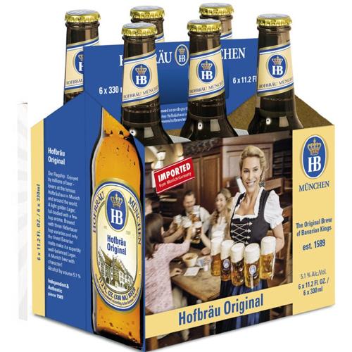 HB MUCHEN HOFBRAU BEER11.2oz 6pk.