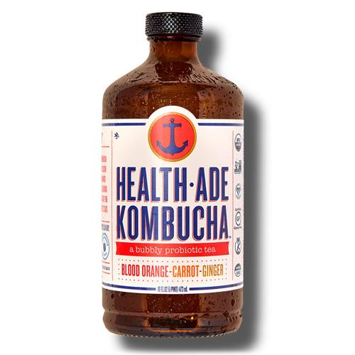 HEALTH-ADE KOMBUCHA PROBIOTIC TEA BLOOD ORANGE CARROT GINGER 16oz