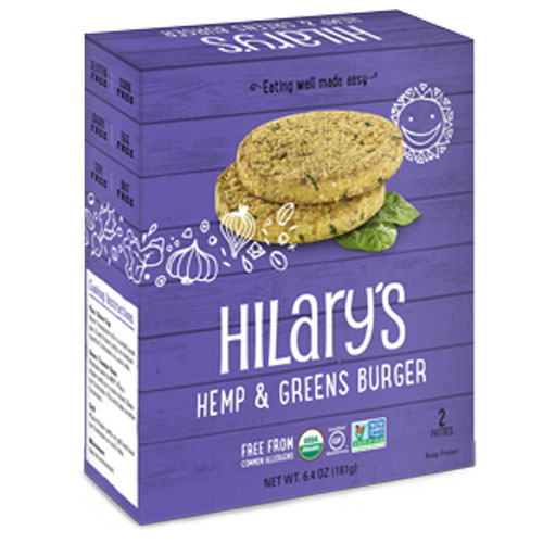 HILARYS BURGER HEMP & GREENS 6.4oz
