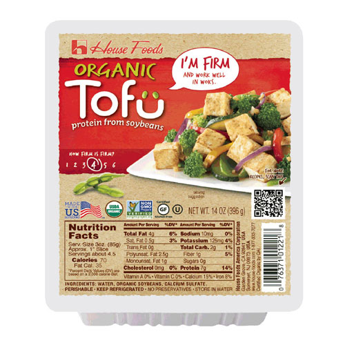 HOUSE FOODS ORGANIC TOFU FIRM 14oz.