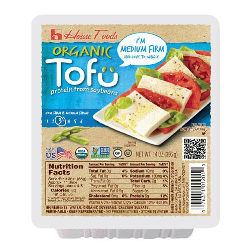 HOUSE FOODS ORGANIC TOFU MEDIUM FIRM 14oz.