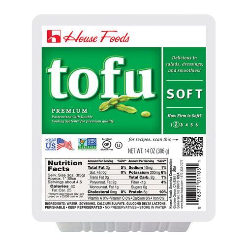 HOUSE FOODS ORGANIC TOFU SOFT 14oz.