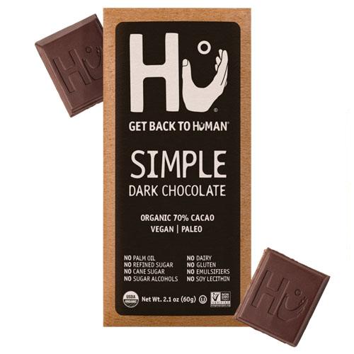 HU VEGAN PALEO SIMPLE DARK CHOCOLATE 2.1oz