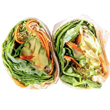 I Love Veggie Wrap  (Avocado, Sprout, Carrot, Cucumber, Baby Spinach, Hummus Spread )
