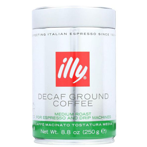 ILLY DECAF GROUND COFFEE MEDIUM ROAST 8.8oz